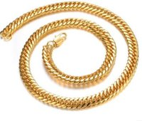 Wholesale Hot Cakes Necklace - 24 k gold plated Europe and the United States sell like hot cakes hot style domineering gold-plated ruggedly intensive man necklace