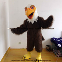 ingrosso costume della mascotte dell'uccello adulto-Il costume adulto della mascotte dell'aquila di carnevale di alta qualità libera il trasporto, falco di lusso dell'uccello del partito delle immagini reali, fabbrica diretta del costume della mascotte del falco