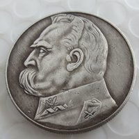 Wholesale Poland Box - 1934 10 ZL PILSUDSKI POLAND SILVER COIN Copy Coin Brass Craft Ornaments replica coins home decoration accessories