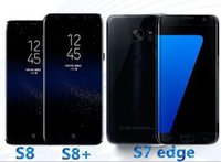 Wholesale Smartphone Single - goophone s8 plus phone s7 edge Android 6.0 smartphone 64bit cell phones Show MTK6592 Octa Core 3gb ram 64gb rom Fake 4g lte dual Sim dhl