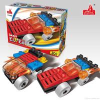 Wholesale Big Building Blocks Children - 2017 HPD Boy And Girl Building Blocks Assembly Chidren Big 2 Toy Car Models Blocks Cars Develop Child Intelligence Plastic Toys