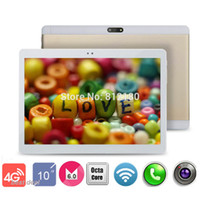 Wholesale Metal Case Tablets - Wholesale- 2017 New Metal Case 10 inch 4G FDD LTE Tablet PC Octa Core 1920*1200 4GB RAM 32GB ROM Dual SIM Cards Android 6.0 tablets 10.1