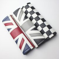 Wholesale Mini Pads - Car Leather Seat Belt Shoulder Pad Cover Cushion Jack Union for MINI One Cooper Fun Coutryman Paceman Clubman JCW R55 R56 R60 R61