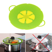 Wholesale Silicone Lids Covers - Flower Petal Boil Spill Stopper Silicone Lid Pot Lid Cover Cooking Pot Lids Utensil Pan Cookware Parts Kitchen Accessories KKA1344