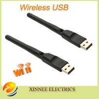 Wholesale Wifi Usb Antenna Skybox - Wholesale- DHL free 100pcs lot Mini 150M USB WiFi RT5370 Wireless Network Card 802.11n g b with Antenna LAN Adapter best skybox and openbox