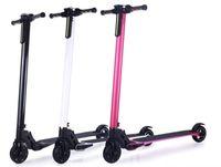elektrikli batarya 24v toptan satış-Sıcak satış Taşınabilir Hafif Bisiklet Katlanabilir Elektrikli Kick Kaykay Scooter 8.8ah 10.4ah LG Pil ile Karbon Fiber