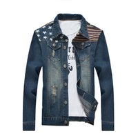 Wholesale Long Outerwear For Spring - Kany Fashion Men's Denim Jacket Men Slim Outerwear Coats Motorcycle Flight Jackets Clothing For Spring Autumn