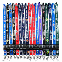 Wholesale keychain id card holder - 100pcs US Football Lanyard ID Card Badge Holder Detachable Keychain For Xmas Gifts Collection Hot Sales Free Shipping