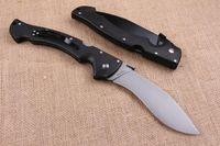 Wholesale COLD STEEL RAJAH II Huge Tactical Folding Knife D2 Blade Krato Handle Outdoor Survival Rescue Pocket Knife Military Utility EDC Dogleg Knife