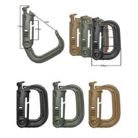 Atacado MOLLE ITW Nexus GrimLoc D-Ring bloqueio Clips Hollow Out Plastic Buckle Clasp Keychain 4 cores para opcional A293