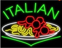 affichage de nourriture de restaurant achat en gros de-Italien Alimentaire Néon Signe Lumière Personnalisé Main Vrai Verre Tube Restaurant Hôtel Motel Diner Salle À Manger Publicité Affichage Au Néon Signes 19