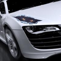 autocollants d'oeil de voiture achat en gros de-10pcs / lot cool 3D voiture style drôles yeux de chat furtivement autocollant de voiture étanche furtivement Monster Auto Accessoires
