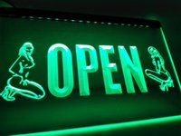 LK727g- OPEN Sex Exotic Dancer Shop Bar LED Neon Light sign