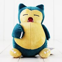 Wholesale Open Videos - 20cm Poke Cute Snorlax Open Mouth Plush Soft Stuffed Doll Toy for kids gift free shipping