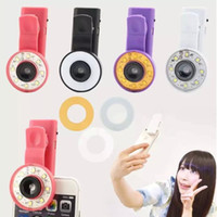 Wholesale Universal Selfie Filter LED Flash Fill Light Clip Camera Micro lens Enhancing Highlight External Rechargeable Flashlight for All Smart Phone