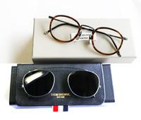 Wholesale Oculos Titanium - Original quality New York brand eyewear brand sunglasses THOM TB710 titanium frames men and women Dual glasses frame gafas oculos de sol