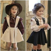 Wholesale Hot Girls Full Clothes - 2017 hot selling Princess Girl's Dresses New Autumn Kids Clothes two-pcs Girl Princess Party Dandy B4577