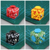 Wholesale Dice Designed - Camouflage Fidget Cube The World's First American Anti Anxiety Stress Cube Fidget Dice Decompression Toys 6 Designs OOA1417