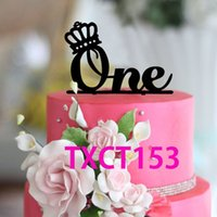 Grossiste-Cake Toppers Wedding Anniversary Cake Topper One Year Baby Birthday Party Cake Décoration Accessoires Pop Cake Accessoire