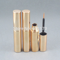 Wholesale Empty Tube Mascara - Wholesale- New arrival 8ml Mascara eyeliner tubes Gold color Empty revitalash Eyelash Bottles for women DIY make up cosmetic packing tube