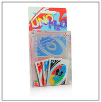 Wholesale Uno Card Game Plastic - NEW Hight Quality UNO Poker Card Crystal PVC Waterproof Standard Edition Family Fun Entertainment Board Game Kids Funny Puzzle Game Free DHL