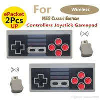 Wholesale Receiver Game - Epacket 2pcs UP Wireless 2.4GHz Controller Joystick Bluetooth Gamepad Mini Classic Edition NES Game Box Controller With Wireless Receiver