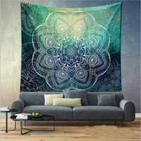 Wholesale India Papers - India Mandala Tapestry Bohemian Elephant Pattern Wall Hanging Home Decor Wall paper Painting Polyester Fabric 148x200cm Size Table Cloth
