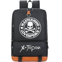 Wholesale Music School Bag - X Japan backpack Super star day pack Singer fans school bag Music rucksack Sport schoolbag Outdoor daypack