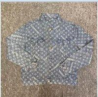 Wholesale American Jackets - 2017 autumn winter Europe Paris American Stars Fan Made Fashion Men Luxury Box logo Jacquard Denim TRUCKER JACKET blue cowboy jacket coat