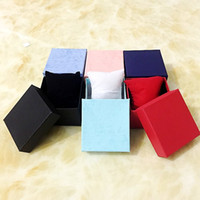 fallen modeschmuck großhandel-Art- und Weiseuhrkästen Papierquadrat Uhr-Kasten mit Farben des Kissens 6 Geschenk-Kasten-Fall für Schmucksache-Kasten-Uhr-Paket-Armbanduhr-Verpackung