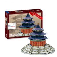Wholesale Temple Heaven Puzzle - World famous buildings Jigsaw Model 3D Puzzle The Temple of Heaven DIY Xmas Gift Toys for childrens day Learning Education
