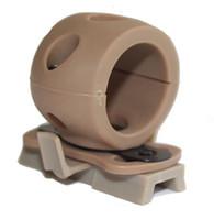 "Wholesale Helmet Mounts - Tactical Single Flashlight Clamp 1"" 25.4mm Helmet Light Mount Wing-Loc adapter BK OD DE"
