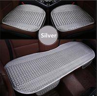 Wholesale Audi A4 B6 Seats - 3Pcs set universal Auto car pad summer breathable cool seats covers Audi a4 b6 a3 a6 c5 b7 c6 q5 a5 b5