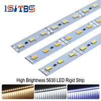 Wholesale Kitchen Cabinet Strip Led - LED Bar Light 5630 DC12V 36LEDs 50cm High Brightness LED Hard Rigid Strip For Kitchen Under Cabinet Showcase 10pcs lot