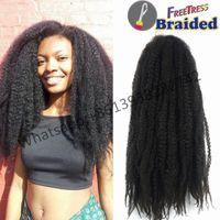 Wholesale Wholesale Synthetic African Hair - NEW 16inch 100gram Havana Mambo Twist of Afro Kinky Marley, African woman Havana Braiding Twist Crochet Braid Synthetic braiding hair