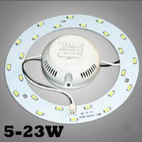SMD 5730 5W 12W 15W 18W 23W LED Anel Tecto Circular Magnetic Luz Lâmpada 85-265V Downlights Round Ring Painel Painel LED com Ímã