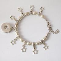 Wholesale Olive Oval - S925 Silver snap button charms bracelet Oval Olives Shape Beads Butterfly 925 Silver bracelets fit 18mm snaps