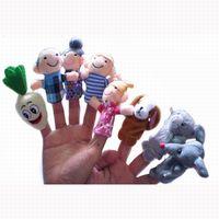 Wholesale Tortoise Hare - Wholesale- 8 Pcs Cartoon Animal The Hare and Tortoise Finger Puppets Baby Finger Dolls Kawaii Family Finger Toys Children Educational Toy