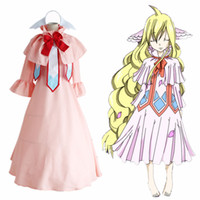 Wholesale Complete Costume - Malidaike Anime Women's Fairy Tail Cosplay Costume Mavis Vermilion Suit Complete Suit Super Halloween Lolita Style Dress Up