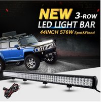 44inch 576W 6D 3-Row CREE Chip LED Bar Offroad Led Work Driving Light Combo Bar per camion 12v 24v camion SUV 4WD pickup