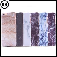 Wholesale Protector Images - Marble Texture Pattern CellPhone Cover Case For iPhone 7 6 7Plus 6Plus Stone image Painted Screen Protector Smooth Hard PC Skin Phone Cases