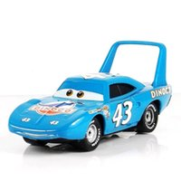 Wholesale Toy 43 - blue Cocky Pixar Cars Diecast No.43 Race Team The King Metal Toy Car 1:55 jugetes trenes tomy toy model cars toys for children