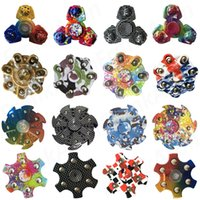 Wholesale 16 Colors Mix Order Camo Plastic Fidget Spinner Retail Box Camouflage Rainbow Fidget Spinners Steel Ball EDC Anti stress ADHD Novelty Toys