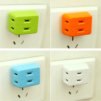 Wholesale Wall Outlet Adapters - Portable Electrical Outlet Wall Plug Travel Power Strip Triple Tap 3 in 1 Splitter 15A 1500W 125V International Power Socket adapter