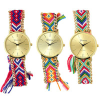 Wholesale National Wind Watch - Geneva Geneva Handmade colored pull rope watch national wind fashion watch