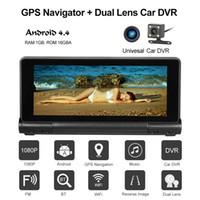Wholesale dash camera navigation for sale - Group buy 7 inch Car GPS Navigation With Car DVR P Camera Dash Cam Recorder Android System Bluetooth Wifi FM GB US EU AU Map