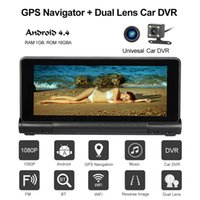7 pouces voiture navigation GPS avec voiture DVR 1080P Caméra Dash Cam Recorder Système Android Bluetooth Wifi FM 16GB US EU EU Carte