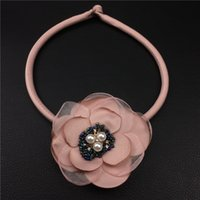 Wholesale Flourish Gifts - Pink Elegant Flowers Flourishing Necklace For Women Clothes Accessories New Fashion