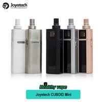 Wholesale E Cigrettes - Original Joyetech Cuboid Mini kit 80w 5ml atomizer 2400mAh built-in battery Electronic Cigrettes E-cigarette TC Set