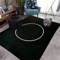 Wholesale Luxury Brand Black Classic Pattern Carpet Mats with Logo Three Size to Choose High Quality